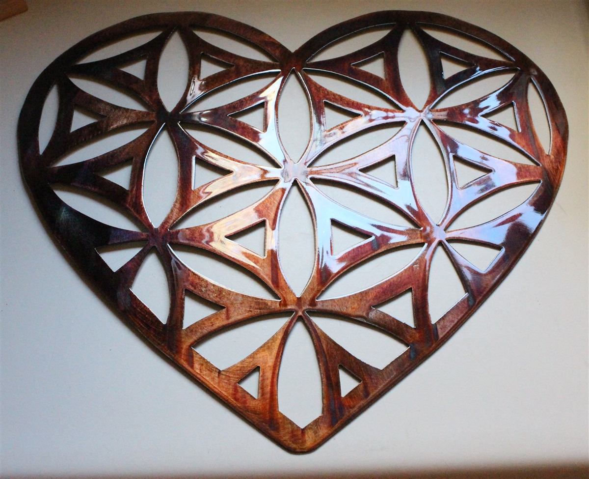 Heart Shaped Flower Of Life