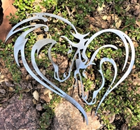 Mothers Heart Horse Heart Metal Art