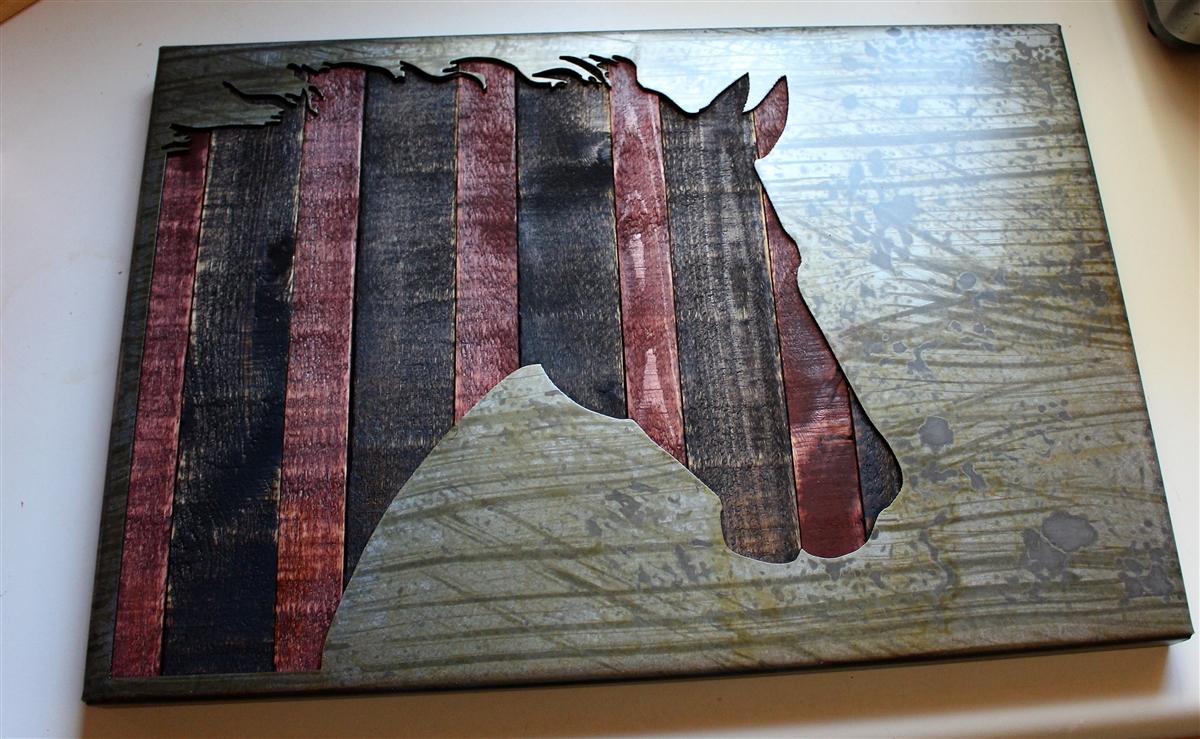 Industrial Metal Wall Art industrialhorse-2