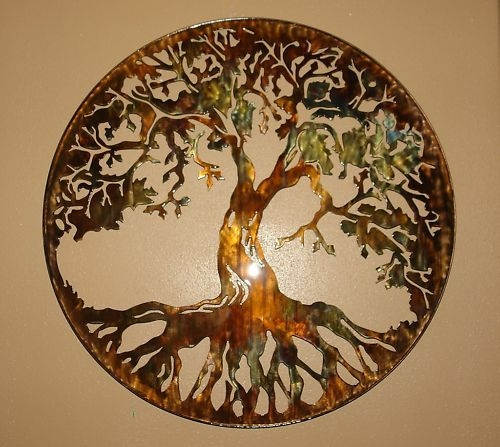Tree Of Life Metal Wall Art 24 Quot With Led Lights By Hgmw