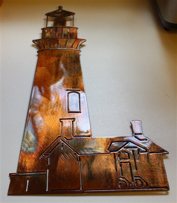 Nautical Lighthouse Wall Art Metal Decor Copper/Bronze