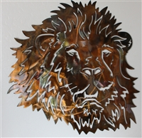 Mighty Lion Head Metal Wall Art