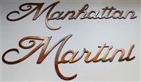 Martini & Manhattan METAL ART WALL - COPPER/BRONZE