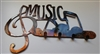 Music w/ Notes Key Rack - Copper/Bronze
