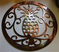 "Ornamental Pineapple 15"" Metal Wall Art"