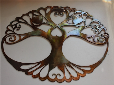 Oval Tree of Life Metal Wall Art Decor by HGMW