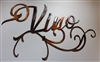Ornamental Vino Metal Wall Art Accent
