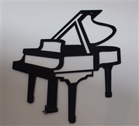 Grand Piano Metal Wall Art Accent