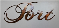 Port Sign -  Copper/Bronze