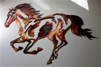 """Running"" Equestrian Metal Wall Art"