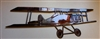 Bi-Wing Metal Wall Art Airplane