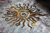 Sun Metal Wall Decor
