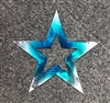 "Star 5 1/4"" Teal Tainted Metal Wall Art Decor"