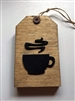Pallet Wood Coffee Cup Tag Decor