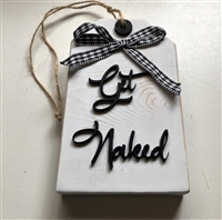 Get Naked Tiered Tray Tag Wooden Decor Accent