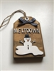 Meltdown Snowman Wooden Tiered Tray Tag Décor