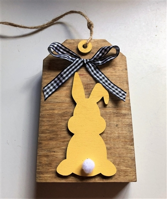 Bunny Butt Wooden Tag