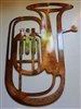 Tuba Metal Wall Art Decor Copper/Bronze Plated