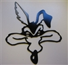 Wile E Coyote Head Metal Wall Art