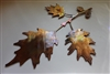 Acorn Oak Leaf Branch Metal Wall Art Decor