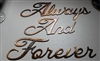 """Always and Forever"" Metal Word Art"