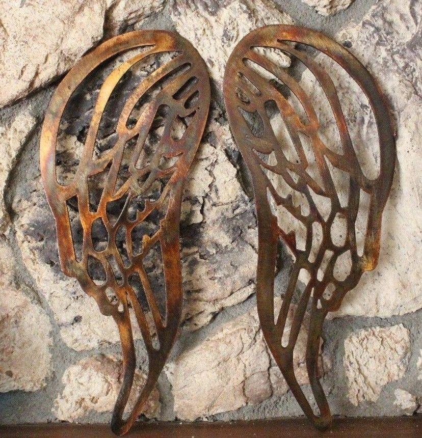 Angel Wings Metal Wall Art