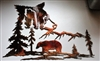 "Bears in the Mountains Metal Wall Art  20"" x 15 1/2"""