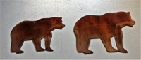 Small Mama Bear Baby Bear Metal Art Wall Accents