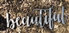 beautiful metal wall art sign