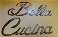 """Bella Cucina"" Metal Word Art"