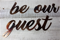 be our guest metal wall art accents