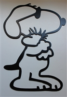 "Snoopy 'Bestfriends"" Metal Wall Art Piece"