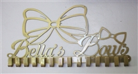 "Customized Name ""Bow"" Rack/Holder"