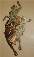 Bull Rider Metal Wall Art