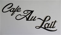 Cafe Au Lait Metal Wall Art Decor