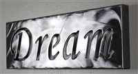 Metal Wall Art Canvas Dream -Silver