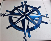 "Captains Nautical COMPASS ROSE 23"" Metallic Blue"