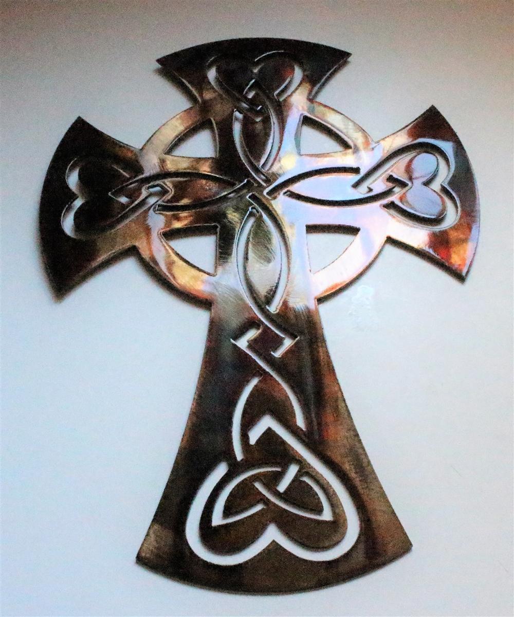 Bronze Metal Wall Art celticornamentalcross-2