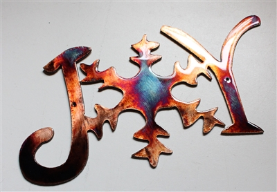 Joyful Metal Wall Art Christmas