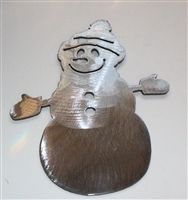 Snowman Metal Wall Art