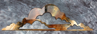 "Cloud's Metal Wall Art Accents 25"" wide Copper/Bronze"