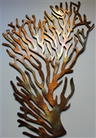 Coral Branch Large Fan Metal Wall Art Decor
