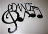 Dance w/ Music Notes Metal Wall Art Decor - Mini