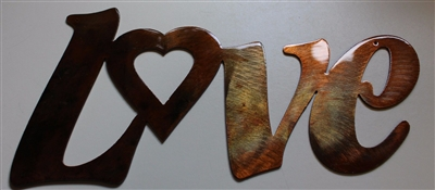 "Decorative heart ""Love"" Metal Word Art"