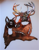 Deer Pair Metal Wall Art