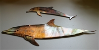 Dolphin Pair Copper/Bronze Wall Art