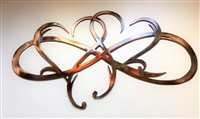 Dual Infinity Hearts Metal Wall Art