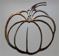 Fall Pumpkin Metal Wall Art Decor