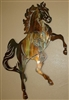Fireball Rearing Horse Metal Wall Art Decor