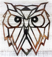 Geometric Owl Metal Art
